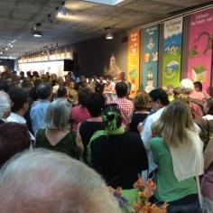 Le vernissage de l'exposition Heula au Scriptorial, juillet 2014