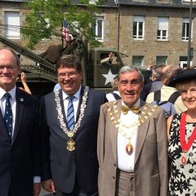 Les maires des villes jumelées 31 juillet 2014