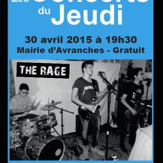 The Rage, en concert du jeudi à la mairie d'Avranches, le 30 avril 2015