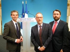 Avec Jean-Paul Ollivier, DRAC de Basse-Normandie, Rodolphe Thomas, maire d'Hérouville-Saint-Clair.