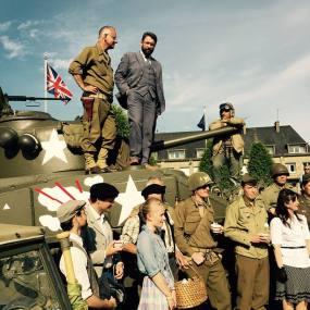 Vernissage du Sherman de la place Patton, 19 juin 2015