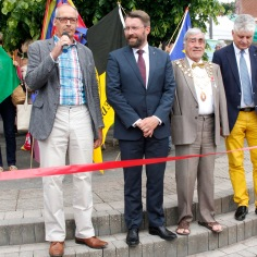 Inauguration du Food festival de Crediton (GB), 23 juin 2015