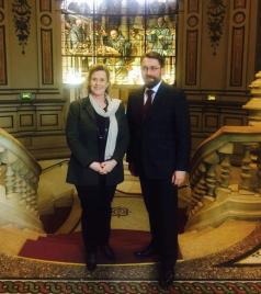 Avec Marie-Agnès Poussier-Winsback, maire de Fécamp et vice-présidente de la région Normandie en charge du tourisme
